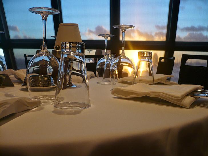 restaurang, Glasögon, dryck, Lichtspiel, vinglas, transparent, äta