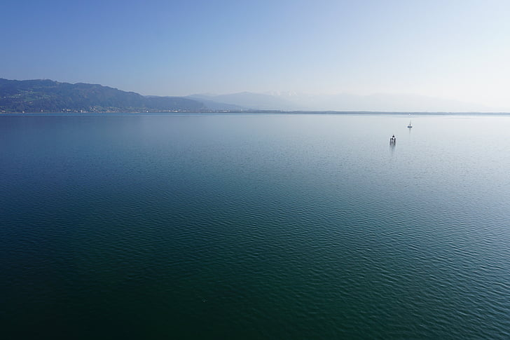lake constance, lake, water, blue, view, rest, quiet