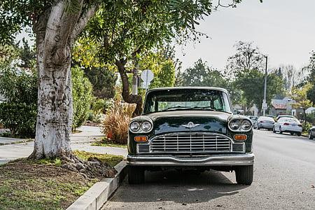cars, chrysler, parking, road, street, vintage, car