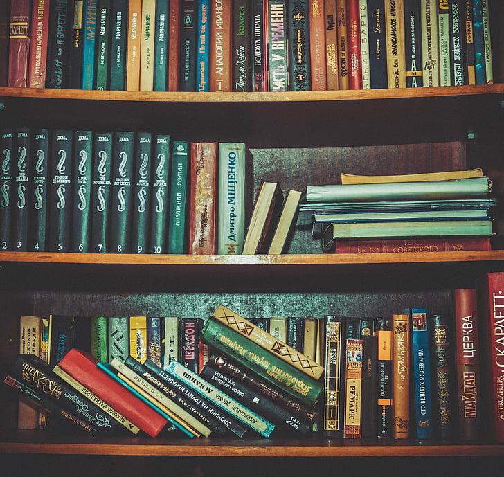 Bücher, Bücherregale, wissen