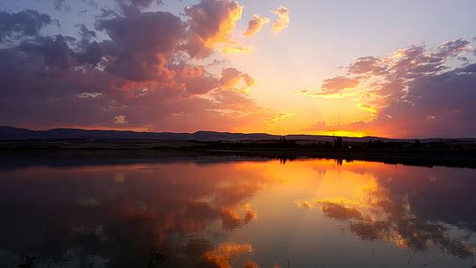 beach, dawn, dusk, evening, landscape, light, ocean