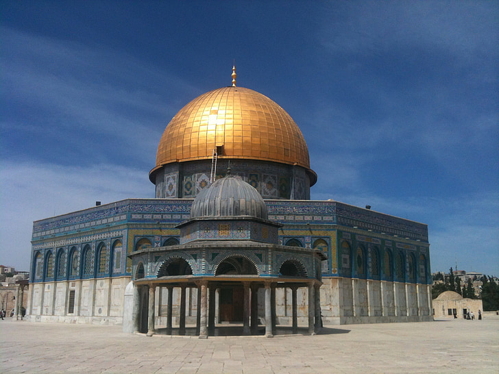 이스라엘, 예루살렘, 바위의 돔, 골든, 돔, 거룩한 도시, 거룩한