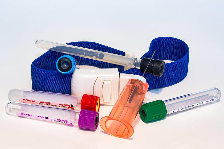 veren keräys, materiaali, veren keräämistä putki, kanyylin, putkenpidikettä, steriili, tyhjiö veren keräämistä putki