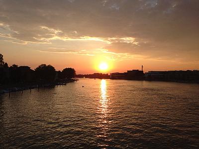 západ slnka, dosvit, oblaky, Príroda, Sky, večernej oblohe, Príroda