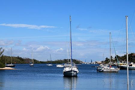 voilier, été, serein, bateau, Loisirs, voile, eau
