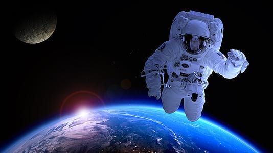 astronaut, astronomy, satellite, moon, forward, space travel, zodiac sign