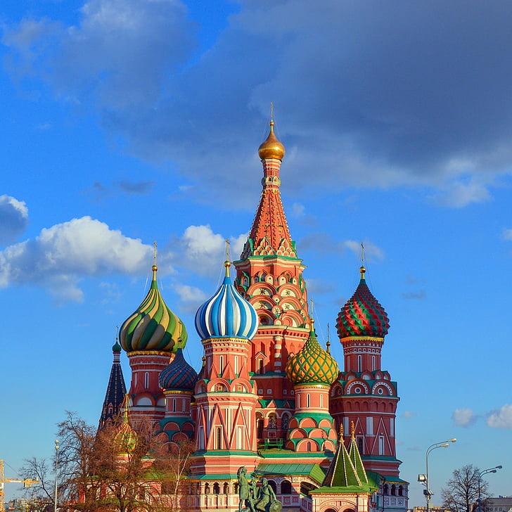 Saint basil's cathedral, Červené námestie, Moskva, St Vasila Blaženého, Katedrála kryt presvjatoj Panny Márie, kostol, chrám