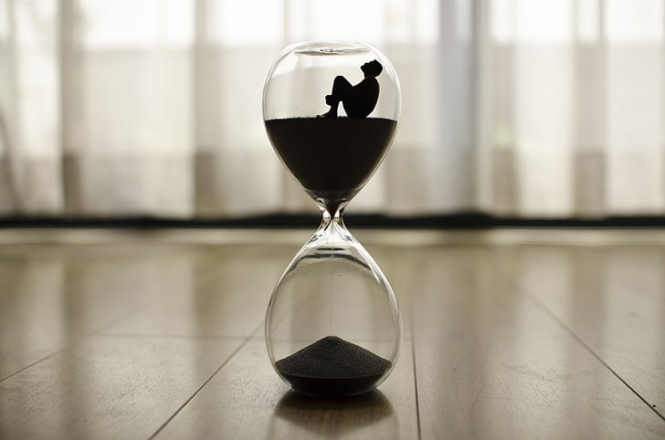 time, clock, hour, minutes, hourglass, antique watch, passage of time