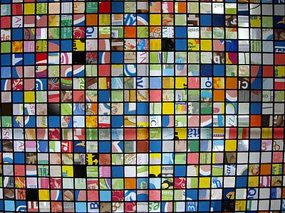 finestra di vetro macchiata, Mosaico, Mosaico in vetro, finestra, arte, vetro macchiato, finestra di vetro