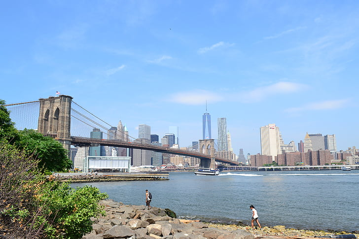 bridge, city, new york city, brooklyn bridge, new york, usa, manhattan