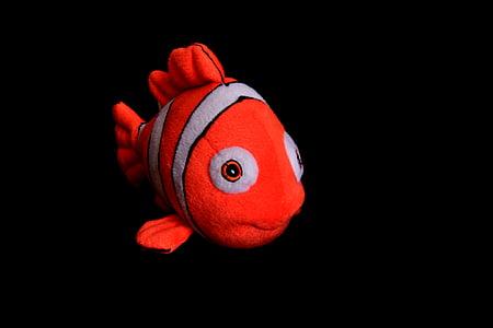 clown fish, koi fish, fish pillow, toys, nemo, red