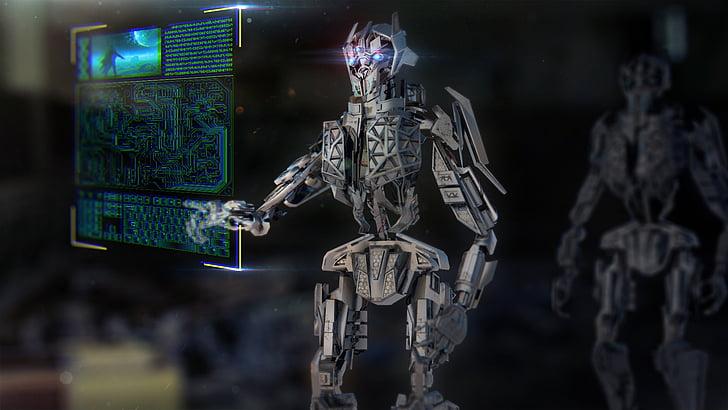 robot, Mech, màquina, tecnologia, urbà, ia, intel·ligència artificial