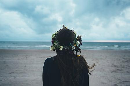 fantezie fata, plajă, Vizualizare, femeie, fantezie, fată, mare