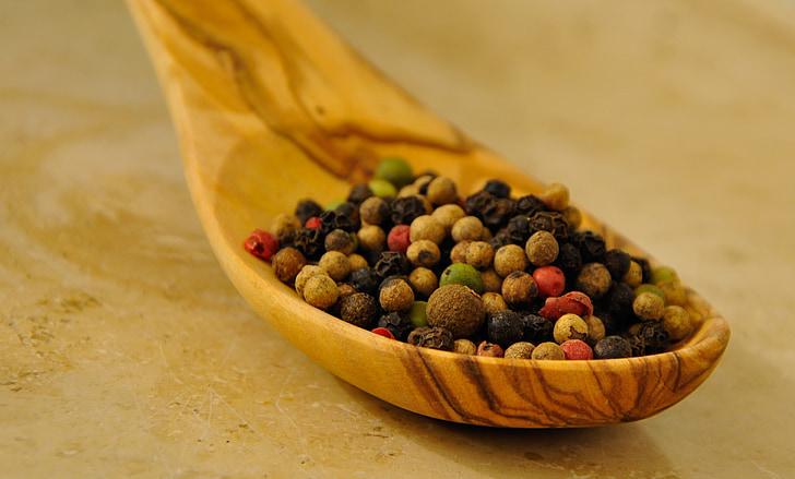 pebre, pebre, espècies, Pfefferkorn s, colors, vermell, pebre de color