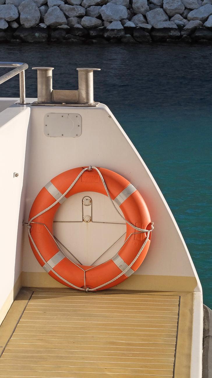 život bovu, brod, brod, plutača, more, marinac, za hitne slučajeve