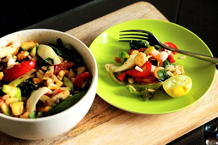 gezonde voeding, salade, eiersalade, gewichtsverlies dieet