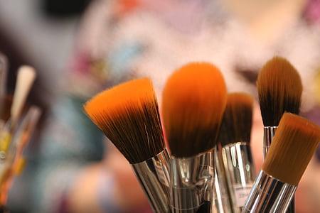 Щітки, інструменти косметичні, пензель, Косметика, макіяж, макіяж інструменти, мистецтво інструменти