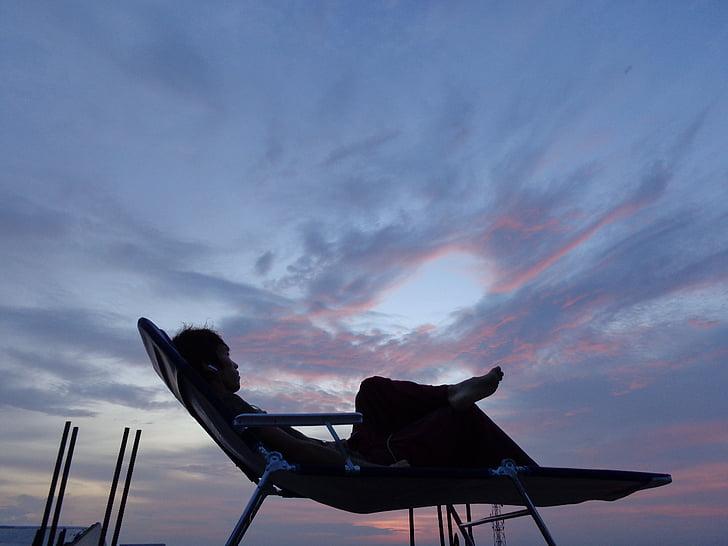 người, thư giãn, nghỉ ngơi, mọi người, phong cách sống, bầu trời, Thiên nhiên