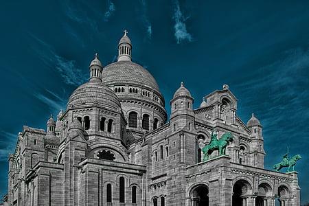 Bazylika Najświętszego Serca Paryża, Kościół, Francja, Paryż, Architektura, Katedra, słynne miejsca