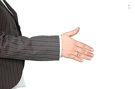 human, showing, left, hand, shake, business, Side view