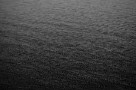 oceà, l'aigua, blanc i negre, fons, negre, gris, Mar