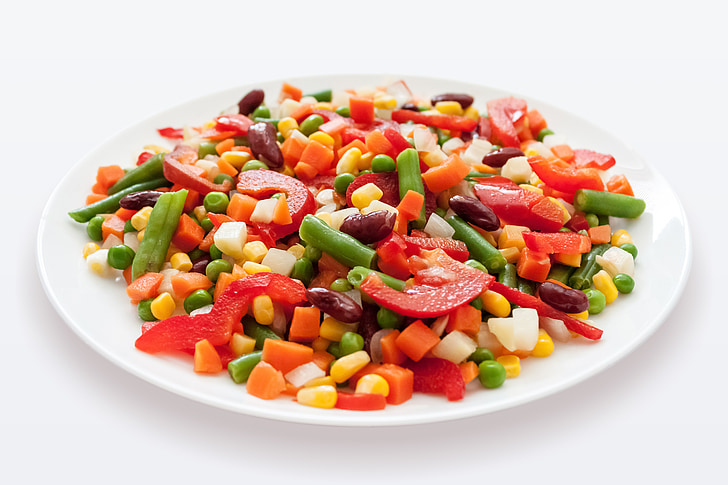 Meksikas mix, dārzeņi, salāti, burkāni, Meksikas, pārtika, jaukts
