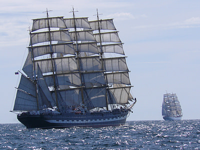 ships, tall, vessel, sea, sailing, nautical, sail