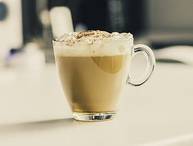 kafijas, latte, kapučīno, dzēriens, Kafejnīca, kauss, kafijas tasi