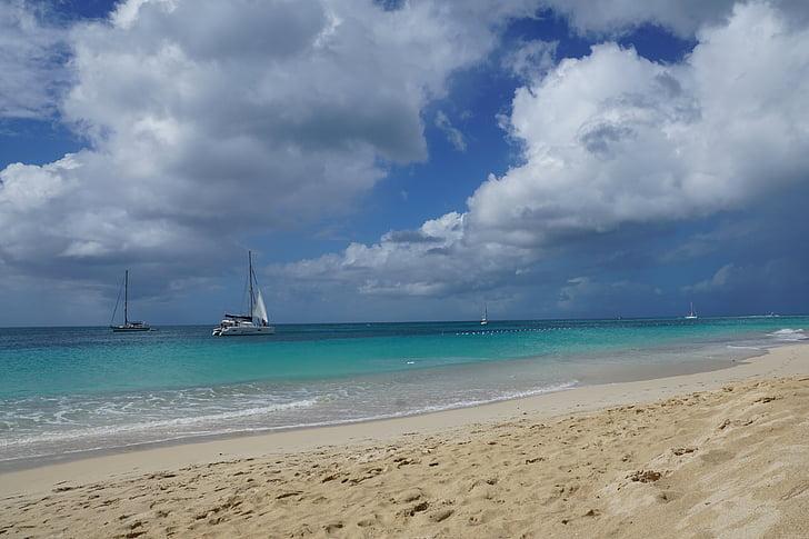 antigua, caribbean, sea, beach