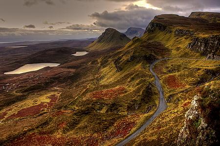 landscape, nature, mountains, road, england, scotland, united kingdom