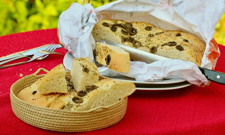 Korter leiba, leib, oliiviõli leib, Küpseta, küpsetatud, Vahemere, küpsetised