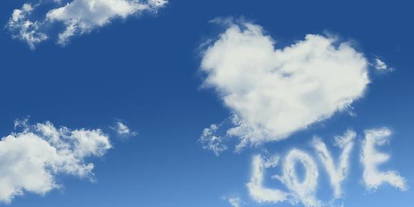 ljubav, oblaci, romansa, nebo, romantična, Čestitka, ljubav