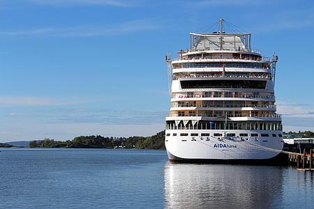 Oslo, Aida, Norvegija, uosto, Oslofjord, Miestas, laivas
