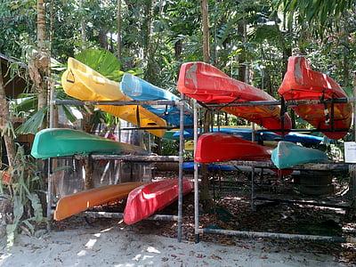 kayaks, color, kayaking, sport, outdoors, leisure, activity