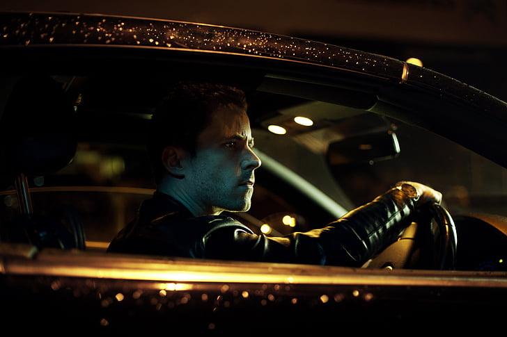 자동차, 운전, 남자, 사람, 차량, 만 남자, 한 사람만