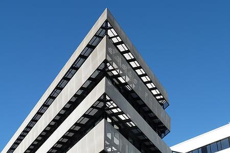 arquitectura moderna, Inicio, edificio, arquitectura, ángulo de, moderno, estructura construida