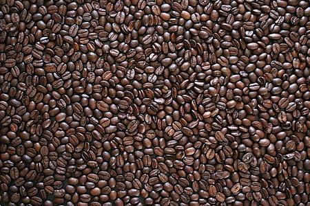 koffiebonen, textuur, Boon, voedsel, geur, koffie, geroosterde