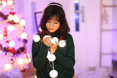 beautiful, christmas, cute, fashion, female, girl, happiness
