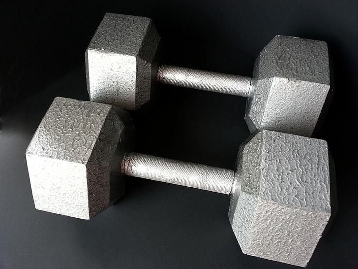 fitnesa, kultūrisms, veselības, trenažieru zāle, svars, hantele, fiziska