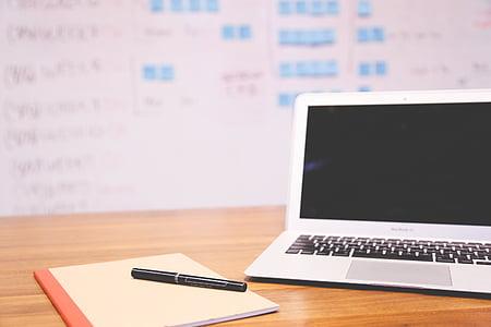 яблуко, MacBook air, «Блокнот», Нотатки, перо, планування, проект