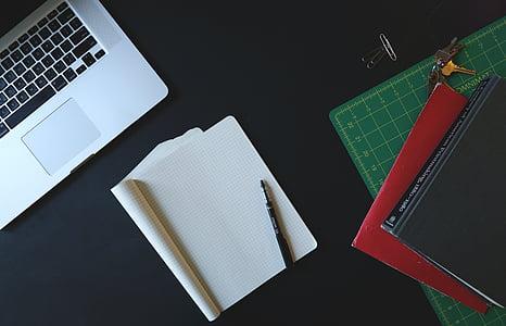 laud, sülearvuti, MacBook, Märkmik, korraldatud, tööruumi, äri