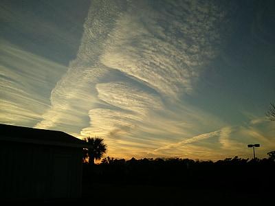 Alabama, Gulf coast, nebo, oblaki, na prostem, scensko, mirno