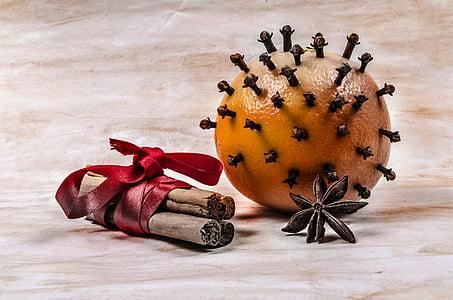 아로마, 크리스마스, 스틱, 장식, 식사, 날짜, 스파이스
