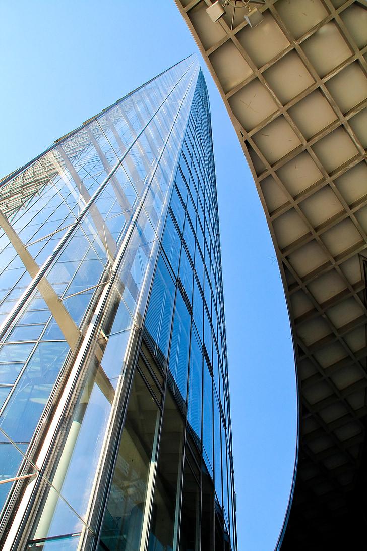 arquitectura, edifici, façana, vidrieres, Torre, vidre