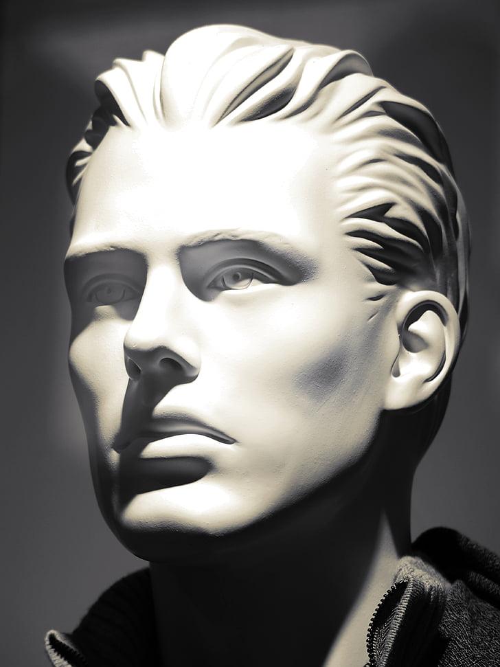 обличчя, ляльки, зачіска, обличчя, Голова ляльки, обличчя ляльки, людини