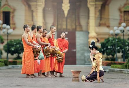 monks, i pray, bangkok, asia, the symbol, believe, buddha