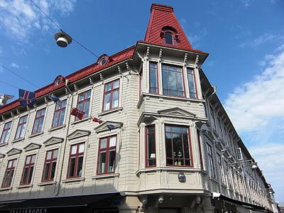 trä fasad, Göteborg, Sverige, gamla stan, Downtown, byggnad, arkitektur