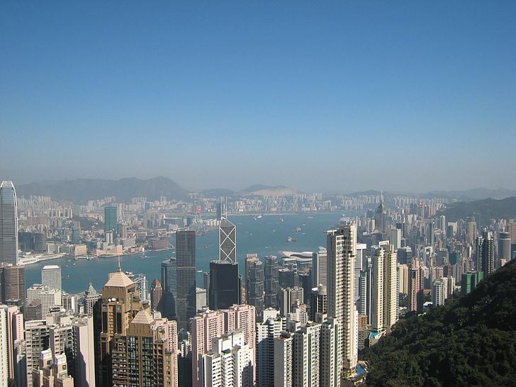 hong kong, skyline, skyscrapers, skyscraper, peak, china, peoples republic of china