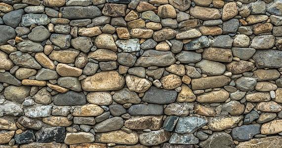石头, 墙上, 尚格云顿, 石头墙, 纹理, 模式, 建设