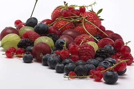 voće, bobice, kupine, malina, jagoda, voće, hrana